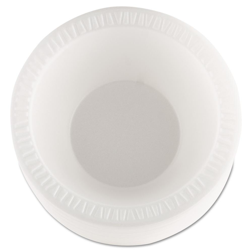 DART 10 oz. - 12 oz. Concorde Non-Laminated Foam Bowls in White (1000 Count)
