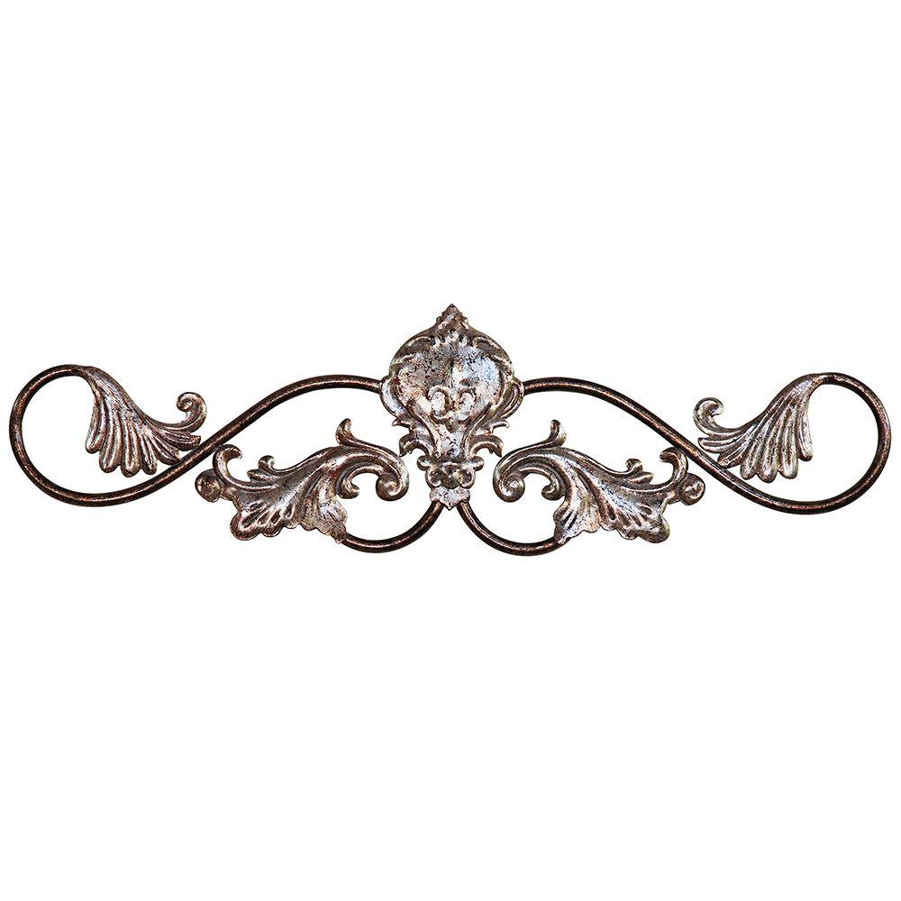 "Yosemite Home Decor 8.5 in. x 24 in. ""Iron Filigree"" Wall Art"