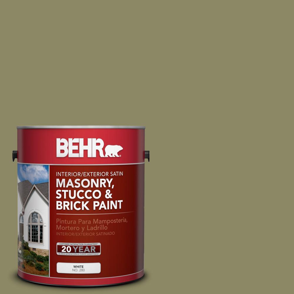 1 gal. #PPU9-23 Oregano Spice Satin Interior/Exterior Masonry, Stucco and Brick Paint