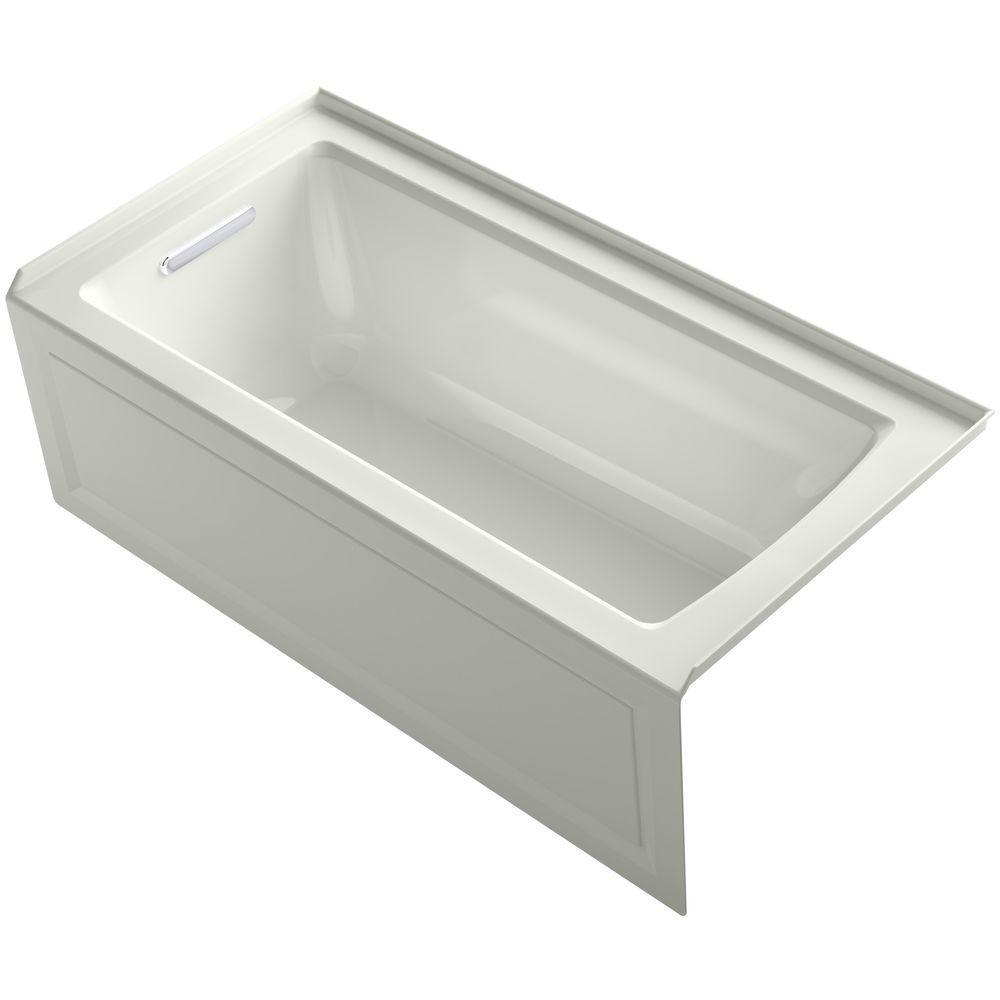 American standard evolution 5 ft left drain deep soaking for Deep soaking tub alcove