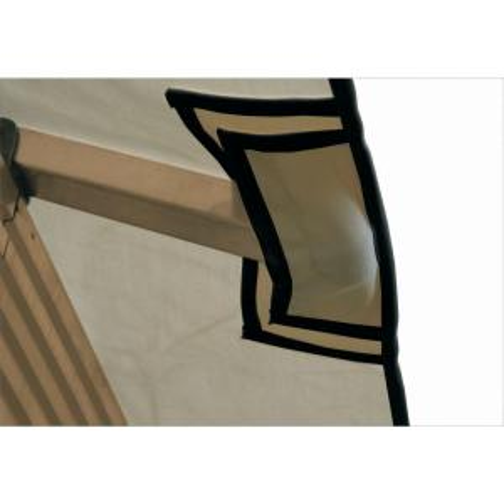 12 ft. x 12 ft. ACACIA Khaki Gazebo Replacement Canopy by