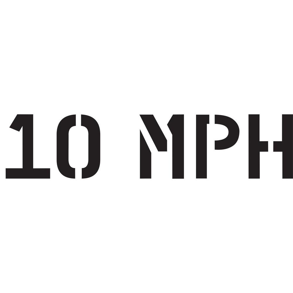 36 in. 10 MPH Stencil