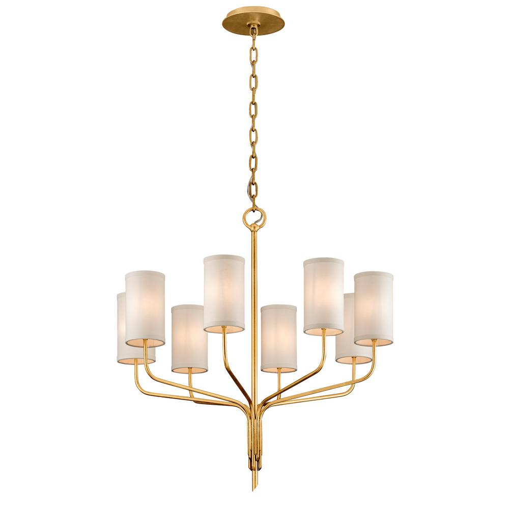 gold leaf chandelier leaf design troy lighting juniper 8light textured gold leaf 32 in chandelier with off