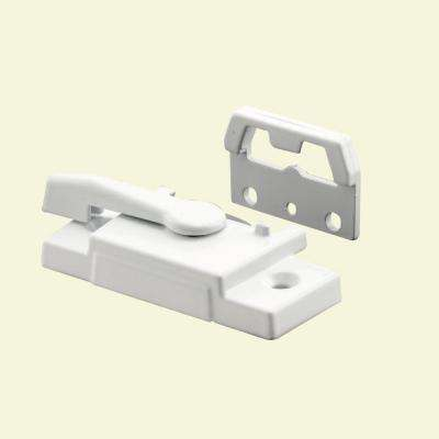 2-1/16 in. Hole Center White Vinyl Window Sash Lock
