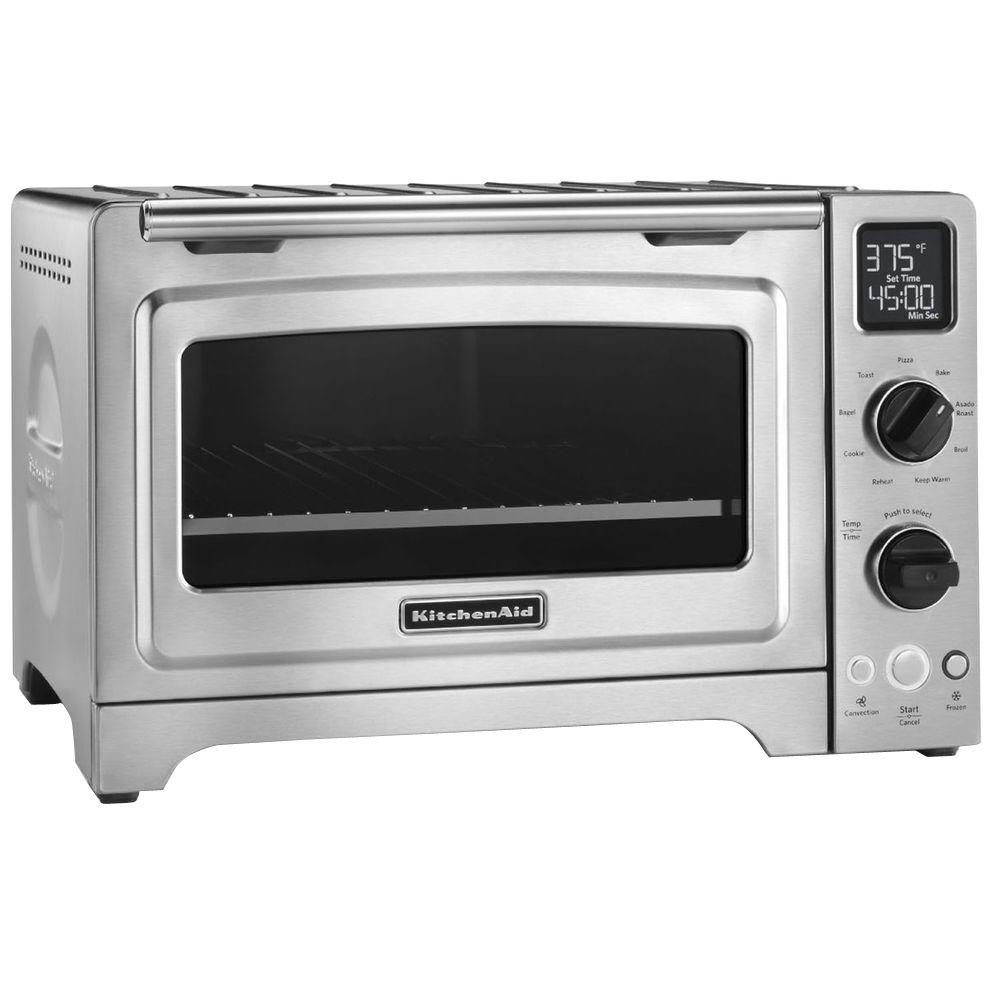 KitchenAid KitchenAid 1800 W 4-Slice Stainless Steel Convection Toaster Oven, Silver