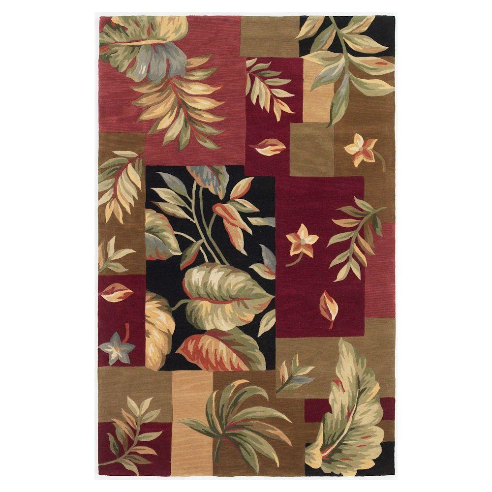 Kas Rugs Foliage Windows Jeweltone 7 ft. 9 in. x 9 ft. 6 in. Area Rug