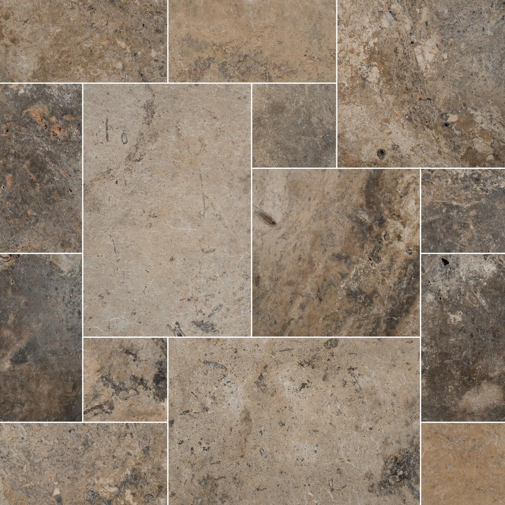 MSI Silver Pattern 16 in. x 24 in. Tumbled Travertine Paver Kit (10 Kits / 160 Sq. ft. / Pallet)