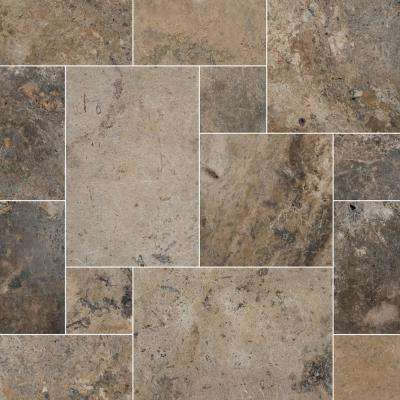 Silver Pattern 24 in. x 16 in. x 1.18 in. Tumbled Travertine Paver Kit (30-Kits/480 sq. ft./Pallet)