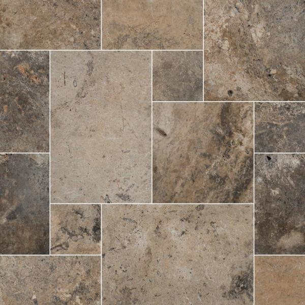 Silver Pattern Tumbled Travertine Paver Kit (30-Kits/480 sq. ft./Pallet)