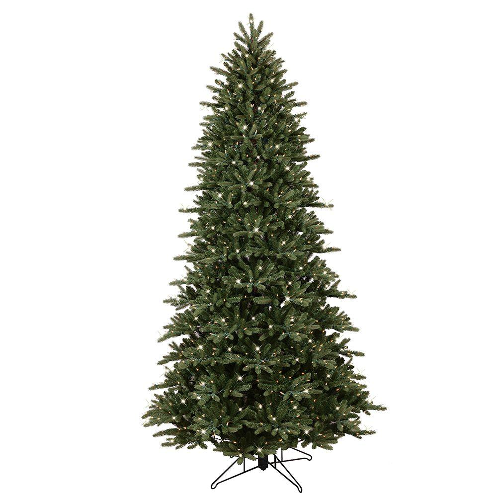 GE 9 ft. Pre-Lit LED Just Cut Frasier Fir Artificial Christmas ...