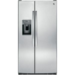 Click here to buy GE 36 inch W 25.4 cu. ft. Side by Side Refrigerator in Stainless Steel by GE.
