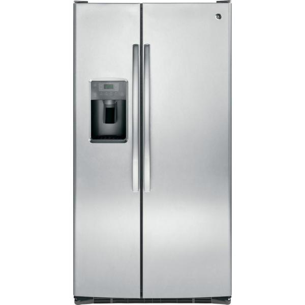 GE 25.3 cu. ft. Side by Side Refrigerator in Stainless Steel
