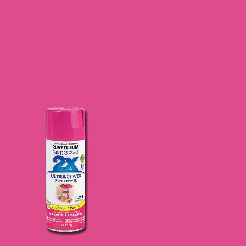 Rust-Oleum Painter\'s Touch 2X 12 oz. Gloss Berry Pink General ...