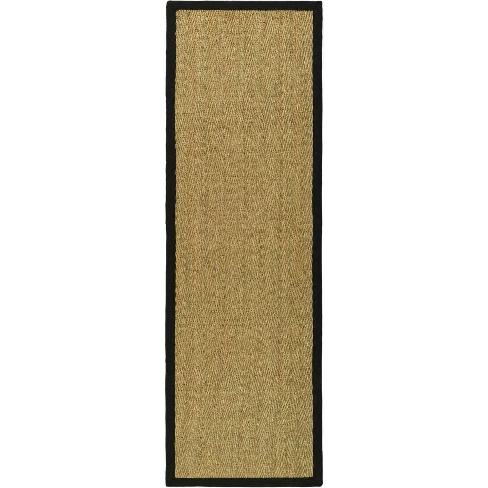 Safavieh Natural Fiber Beige/Black 2 ft. 6 in. x 6 ft. Runner
