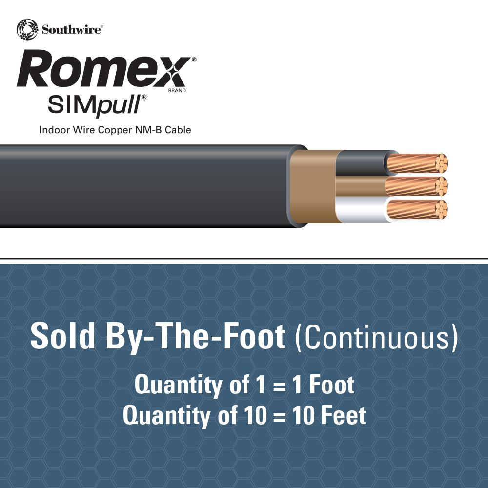 """10//2 NM-B x 75/' Southwire /""""Romex®/"""" Electrical Cable"""