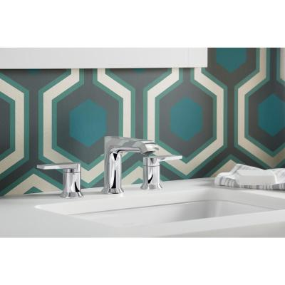 Hint 8 in. Widespread 2-Handle Bathroom Faucet in Polished Chrome