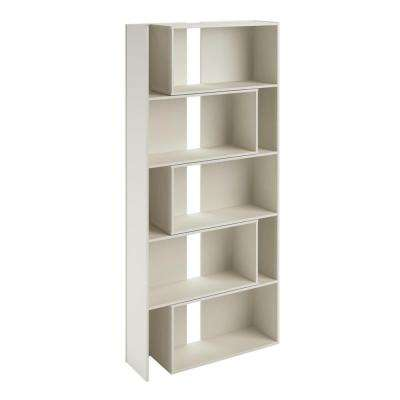 Fulcrum White Expandable Open Bookcase