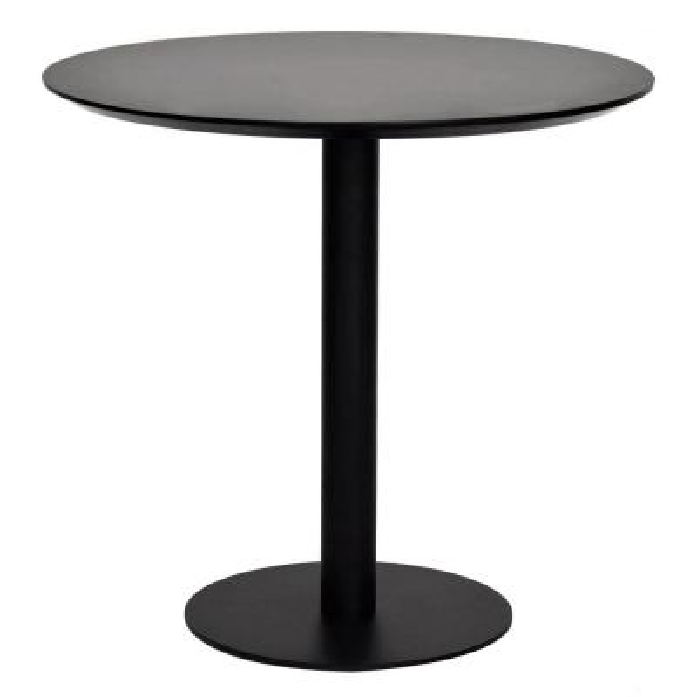 Amelia Black MDF Round Dining Table
