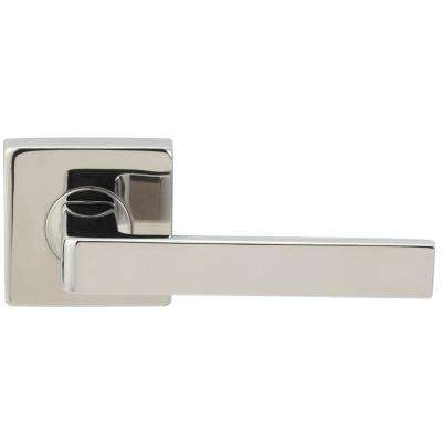 Tokyo Series Square Stainless Steel Polished Passage Hall/Closet Door Lever with 2-3/8 in. Backset