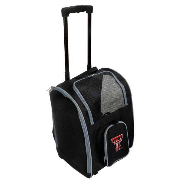 Denco NCAA Texas Tech Red Raiders Pet Carrier Premium Bag with