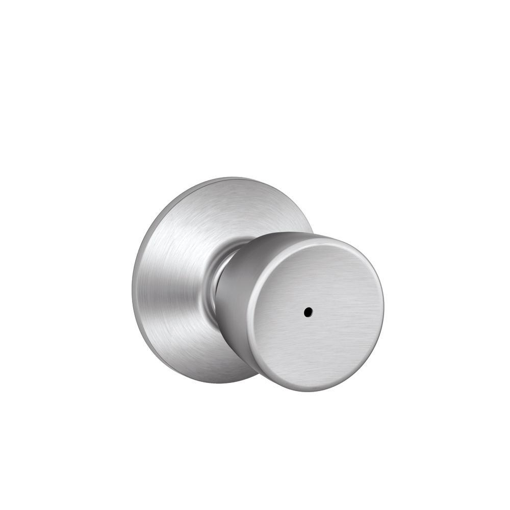 Bell Satin Chrome Privacy Bed/Bath Door Knob