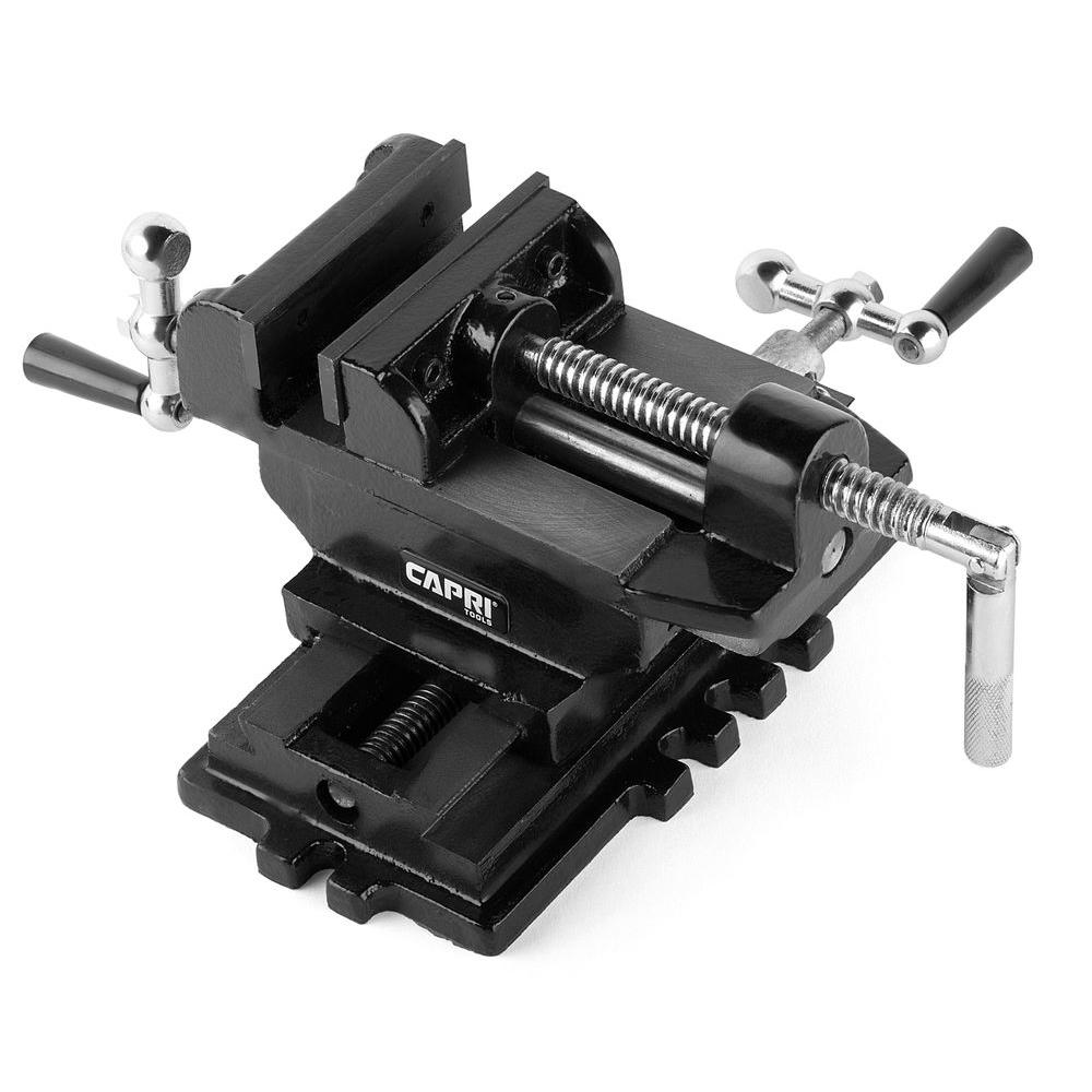 Capri Tools 6 In Cross Slide Vise Cp10522 The Home Depot