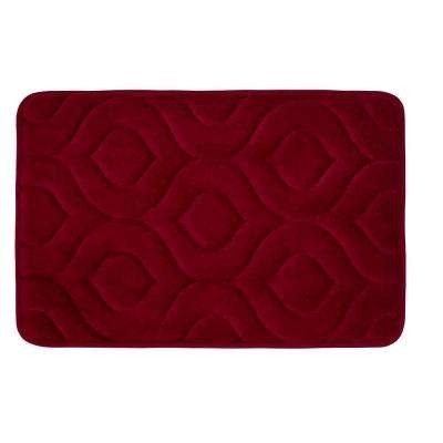 Naoli Barn Red 20 in. x 34 in. Memory Foam Bath Mat