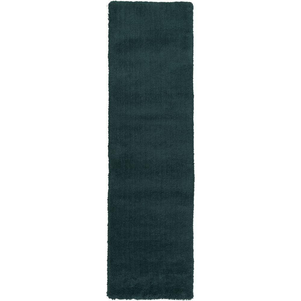 Viniani Teal 2 ft. 3 in. x 8 ft. Indoor Rug