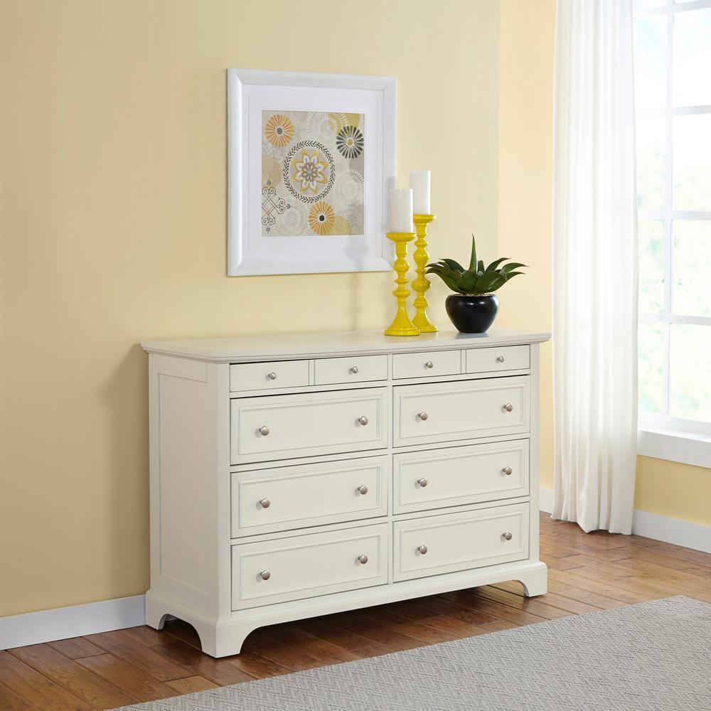 Naples 8-Drawer White Dresser