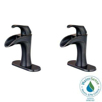 Centerset Single Handle Bathroom Faucet In Tuscan Bronze 2
