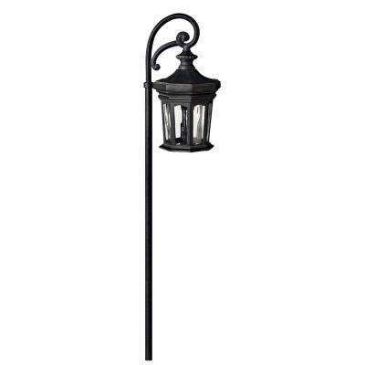 Low-Voltage 18-Watt Black Raley Path Light