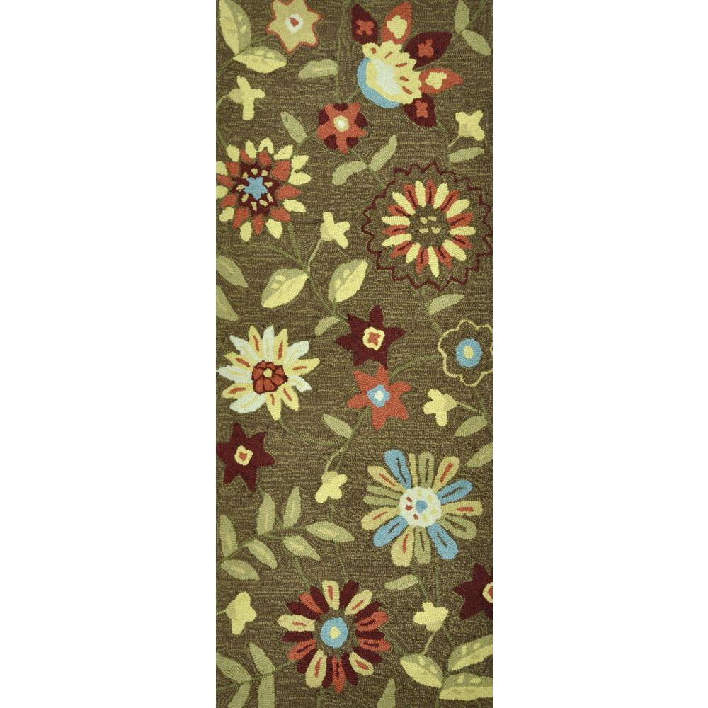 Loloi Rugs Summerton Life Style Collection Brown Multi 2 ft. x 5 ft. Runner-DISCONTINUED