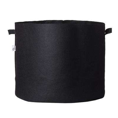 23.25 in. x 22 in. 45 Gal. Breathable Fabric Pot Bag with Handles Black Felt Grow Pot