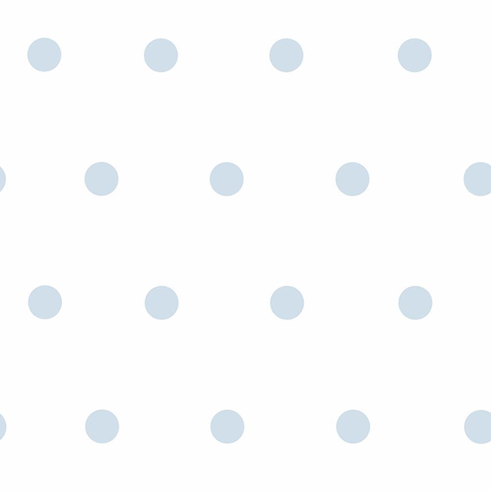 Chesapeake Kenley Light Blue Polka Dots Wallpaper
