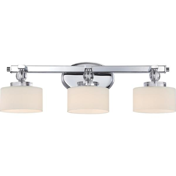 Downtown 3-Light Polished Chrome Vanity Light