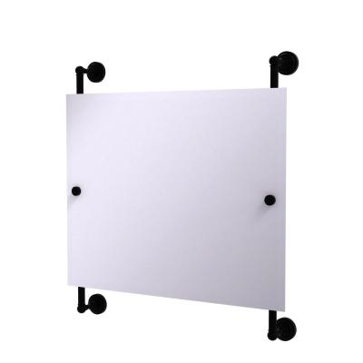 Dottingham Landscape Rectangular Frameless Rail Mounted Mirror in Matte Black