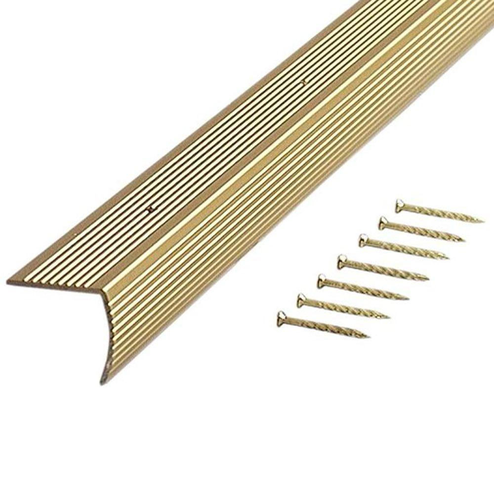 Satin Brass Fluted 72 in. Stair Edging