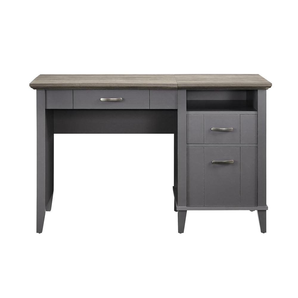 Ameriwood Lisette Gray Lift Top Desk