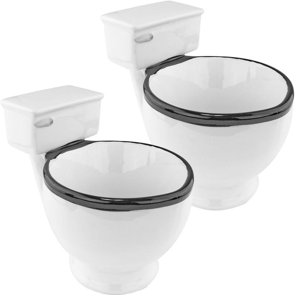 12 oz. Ceramic Toilet Coffee Mug (Set of 2)