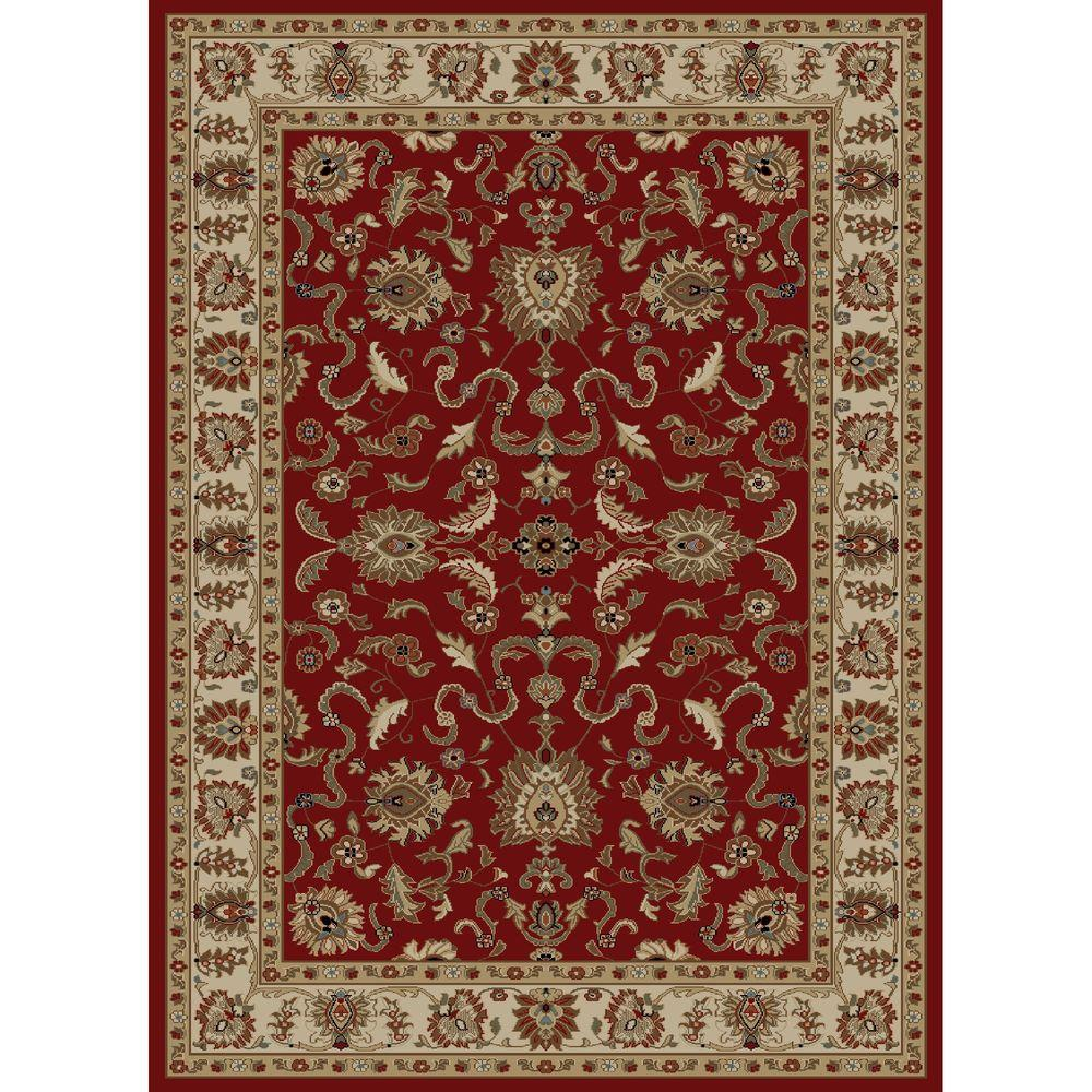 Ankara Agra Red 7 ft. 10 in. x 10 ft. 10