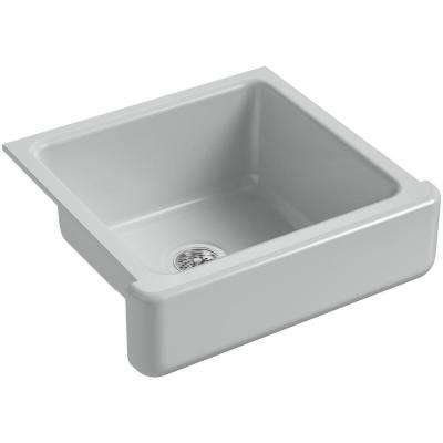 Whitehaven Farmhouse Apron-Front Cast Iron 24 in. Single Basin Kitchen Sink in Ice Gray