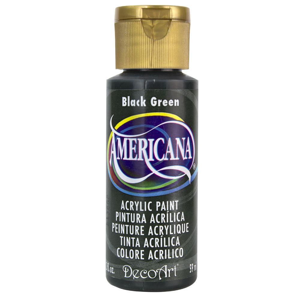 Americana 2 oz. Black Green Acrylic Paint
