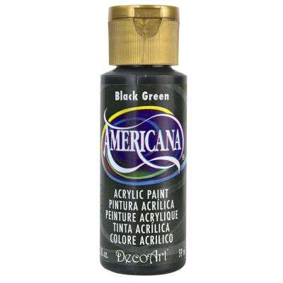 Americana 2 oz. Black Green Acrylic Paint