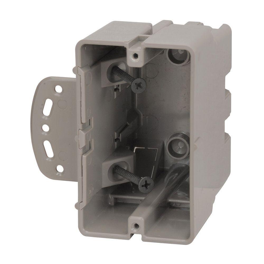 Smart Box 1-Gang Multi-Mount Adjustable Depth Device Box