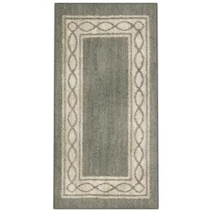 PetProof Sparrow Caster Gray/ Bone White 2 ft. x 4 ft. Area Rug-612931 - The Home Depot