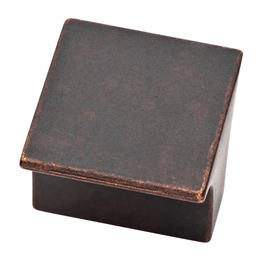 Arias 1-3/32 in. (28mm) Statuary Bronze Cabinet Square Knob
