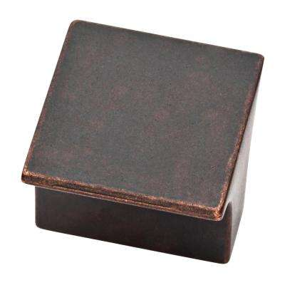 Arias 1-3/32 in. (28mm) Statuary Bronze Cabinet Square Knob