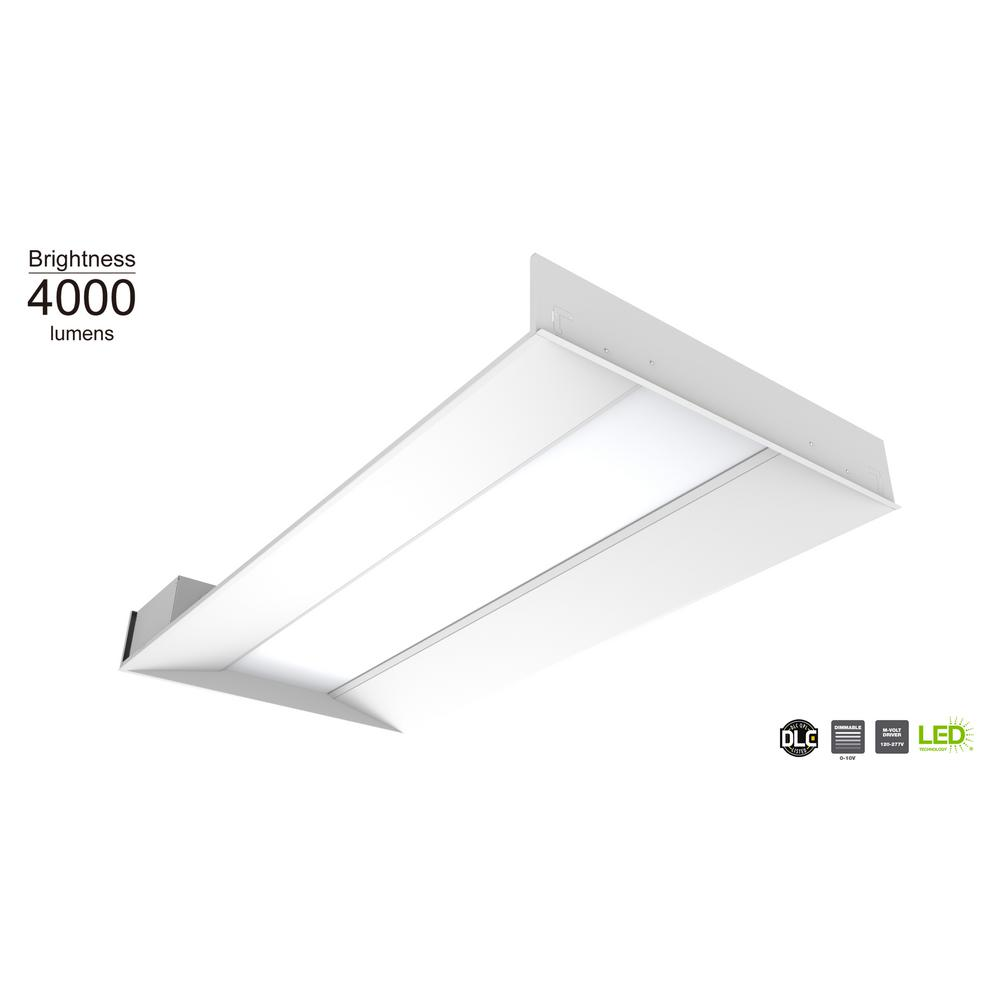 Commercial Electric 2 ft. x 4 ft. 64-Watt Equivalent Integrated LED White Troffer