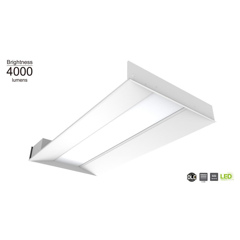2 ft. x 4 ft. 64-Watt Equivalent Integrated LED White Troffer