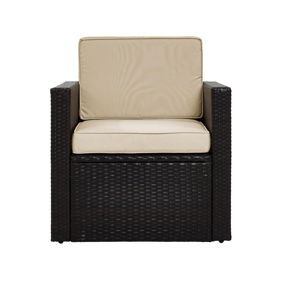 Crosley Palm Harbor Wicker Outdoor Patio Lounge Chair with Sand Cushions